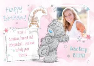 Greeting Cards - Me To You Tatty Teddy Scorpio Zodiac Happy Birthday Photo Card - Image 1
