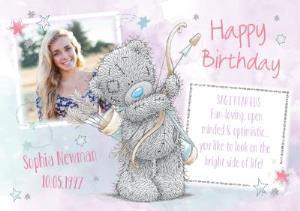 Greeting Cards - Me To You Tatty Teddy Sagittarius Zodiac Happy Birthday Photo Card - Image 1