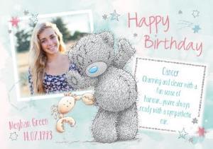 Greeting Cards - Me To You Tatty Teddy Cancer Zodiac Happy Birthday Photo Card - Image 1