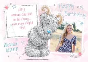 Greeting Cards - Me To You Tatty Teddy Aries Zodiac Happy Birthday Photo Card - Image 1