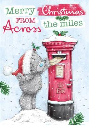 Greeting Cards - Me To You Tatty Teddy Across The Miles Personalised Christmas Card - Image 1
