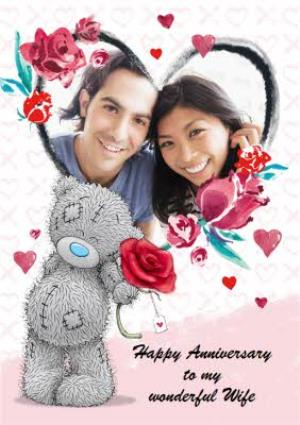 Greeting Cards - Anniversary Card - Wife - Photo Upload - Tatty Teddy - Image 1