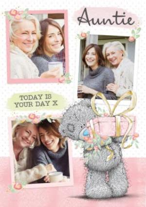 Greeting Cards - Auntie Birthday Card - tatty teddy - photo upload card - Image 1