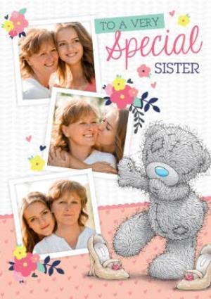 Greeting Cards - Birthday Card - Tatty Teddy Photo Upload Card - To A Very Special Sister - Image 1