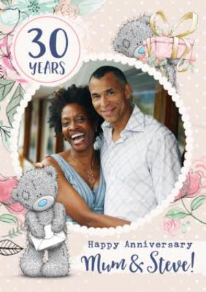 Greeting Cards - Me To You Tatty Teddy Mum and Partner 30 Year Anniversary Photo Upload Card  - Image 1