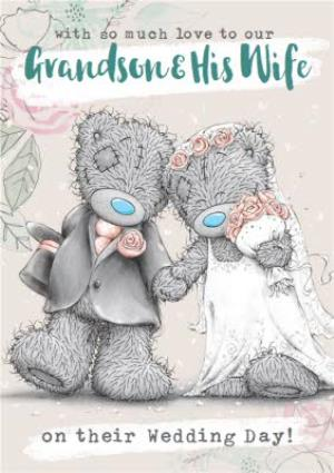 Greeting Cards - Me To You Tatty Teddy To our Grandson and his Wife on your wedding day wedding card - Image 1