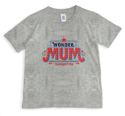 T-Shirts - Mother's Day Wonder Mum Personalised T-shirt - Image 1