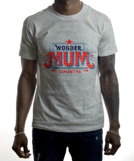 T-Shirts - Mother's Day Wonder Mum Personalised T-shirt - Image 2