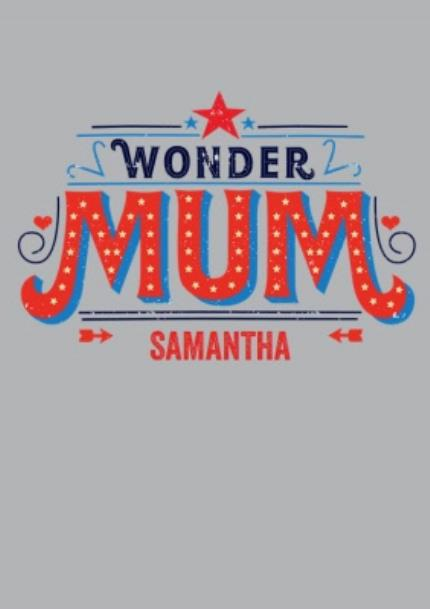 T-Shirts - Mother's Day Wonder Mum Personalised T-shirt - Image 4