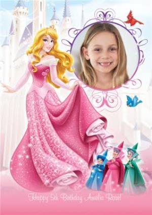 Disney Sleeping Beauty And Castle Personalised Photo Upload Happy