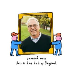 Greeting Cards - He's A Legend Father's Day Photo Card - Image 1