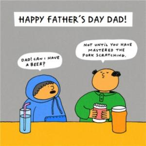 Greeting Cards - Beer And Pork Scratchings Funny Happy Father's Day Card - Image 1