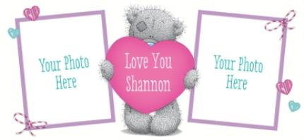 Mugs - Valentine's Day Tatty Teddy Heart Photo Upload Mug - Image 4