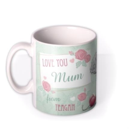 Mugs - Mother's Day Tatty Teddy Macaron Photo Upload Mug - Image 1