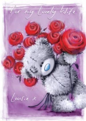 Greeting Cards - Me To You Tatty Teddy For My Lovely Wife Card - Image 1