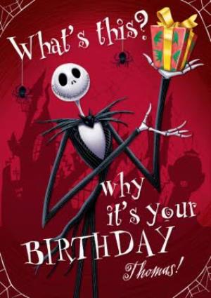 Christmas Birthday Image.The Nightmare Before Christmas Personalised Birthday Card