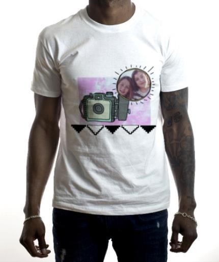 T-Shirts - Camera Flash Photo Upload T-shirt - Image 2