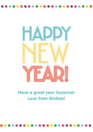 Happy New Year Greeting Card 28