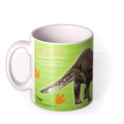 Mugs - Dinosaur Diplodocus Photo Upload Mug - Image 1