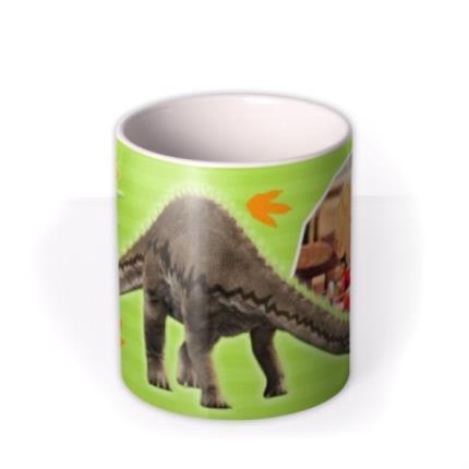 Mugs - Dinosaur Diplodocus Photo Upload Mug - Image 3