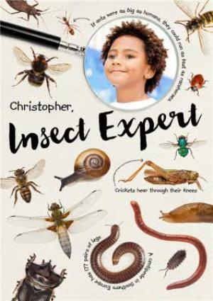 Greeting Cards - Insect Expert Photo Upload Card - Image 1