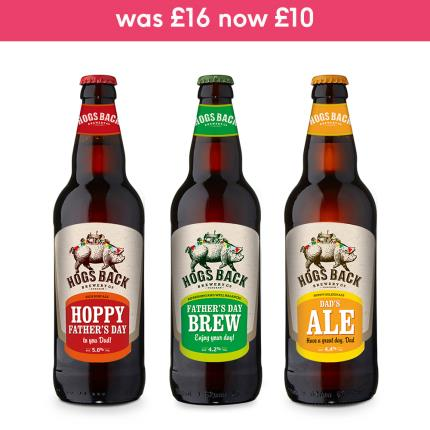Alcohol Gifts - Exclusive Father's Day Hogs Back Brewery Beer Trio - Image 2