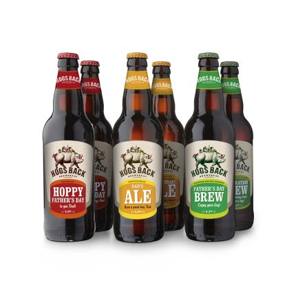 Alcohol Gifts - Exclusive Father's Day Hogs Back Brewery Six Pack - Image 1