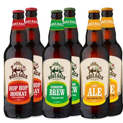 Alcohol Gifts - Exclusive Birthday Hogs Back Brewery Six Pack - Image 1