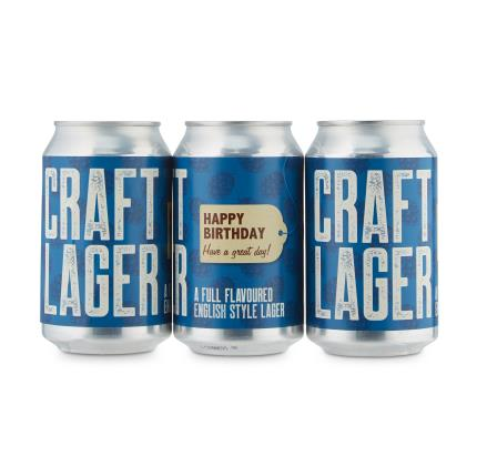 Alcohol Gifts - Exclusive Birthday Hogs Back Brewery Craft Lager Cans - Image 1