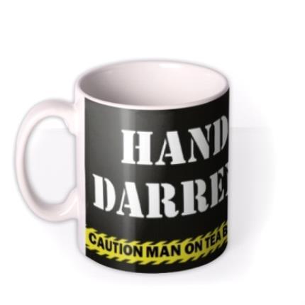 Mugs - Hands Off Personalised Mug - Image 1