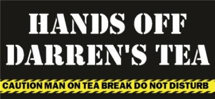 Mugs - Hands Off Personalised Mug - Image 4