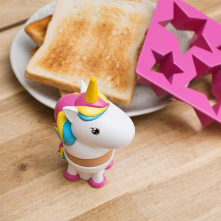 Gadgets & Novelties - Rainbow Unicorn Egg Cup & Toast Cutter Breakfast Set - Image 8