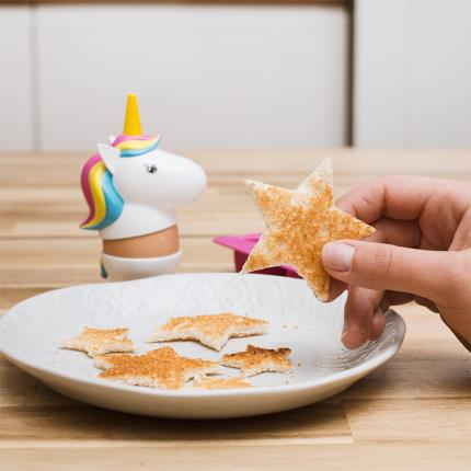 Gadgets & Novelties - Rainbow Unicorn Egg Cup & Toast Cutter Breakfast Set - Image 9