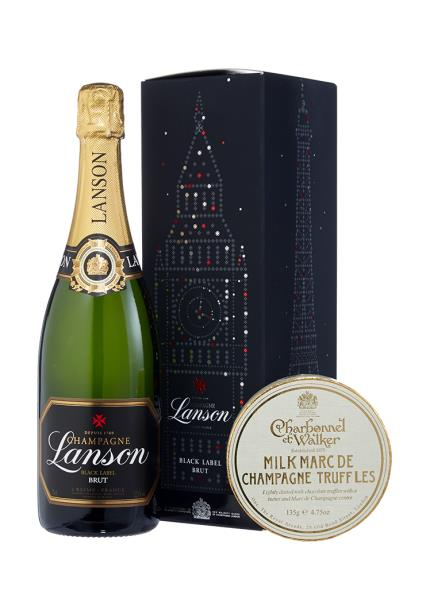 Alcohol Gifts - Lanson Black Label & Charbonnel Champagne Truffles - NEW! - Image 1