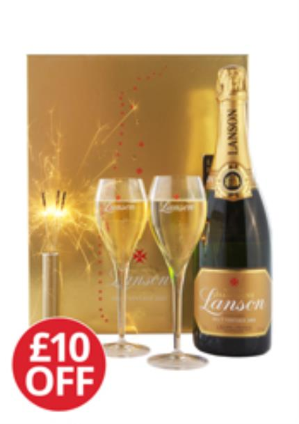 Alcohol Gifts - Lanson Vintage Sparkler Gift Set - £10 OFF - Image 1