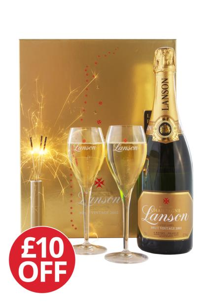 Alcohol Gifts - Lanson Vintage Sparkler Gift Set - £10 OFF - Image 2