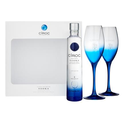 Alcohol Gifts - Ciroc Vodka (20cl) & Cocktail Glasses Gift Set - Image 2