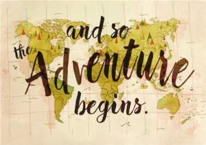 Greeting Cards - And So The Adventure Begins Card - Image 1