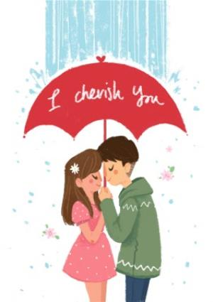 Greeting Cards - I Cherish You Card - Image 1