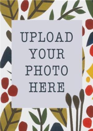 Greeting Cards - Autumn Foliage Photo Upload Card - Image 1