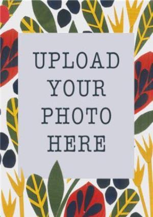Greeting Cards - Autumn Foliage Photo Upload Card - Image 4
