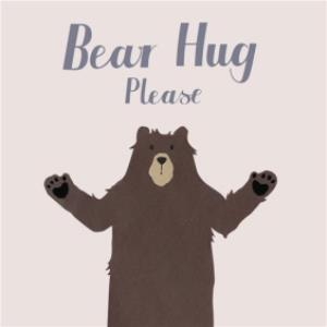 Greeting Cards - Any Occasion Card - thinking of you - bear hug - Image 1