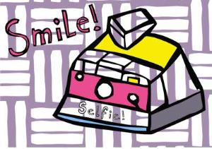 Greeting Cards - Birthday Card - just a note - selfie - smile - camera - Image 1