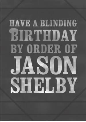 Greeting Cards - Blinding Birthday Personalised Text Card - Image 1