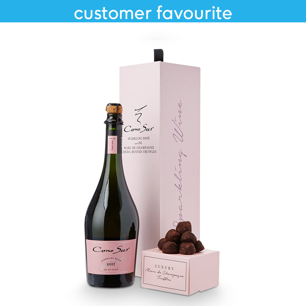 Alcohol Gifts - Cono Sur Sparkling Rose and Champagne Truffle Gift set  - Image 4