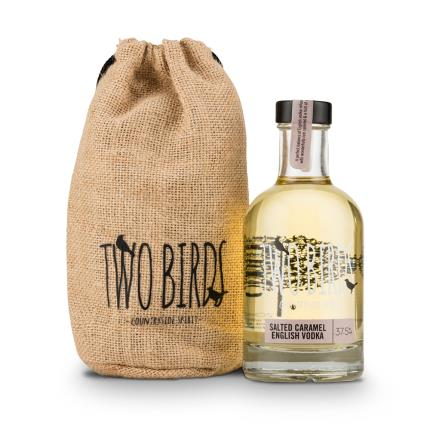 Alcohol Gifts - Two Birds 20cl Salted Caramel Vodka Gift Set - Image 1