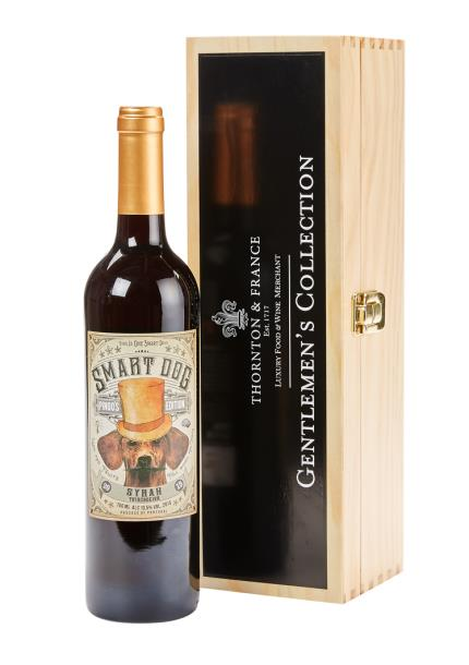 Alcohol Gifts - Gentlemans Collection Smart Dog Syrah Wine - NEW! - Image 1