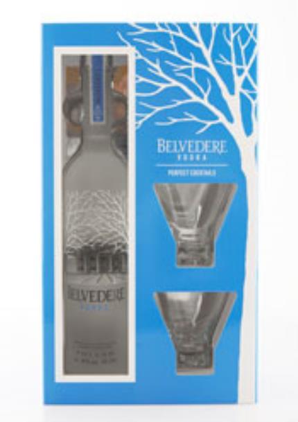 Alcohol Gifts - Belvedere Vodka Gift Set - Image 1