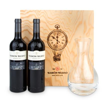 Alcohol Gifts - Ramon Bilbao Rioja Duo and Decanter Gift Set - Image 1