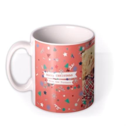 Mugs - Merry Christmas Orange Photo Upload Mug - Image 1